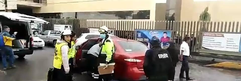 Choca patrulla de SSP en boulevard Córdoba-Fortín por cruzarse el alto