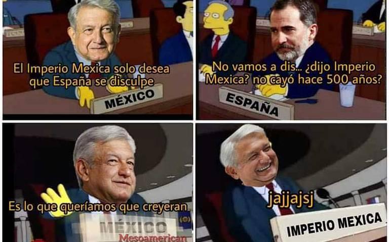 Lluvia de memes por petición de disculpa de AMLO a España y el PAPA